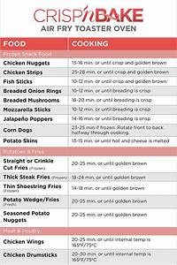 Air Fry Toaster Oven Cooking Chart