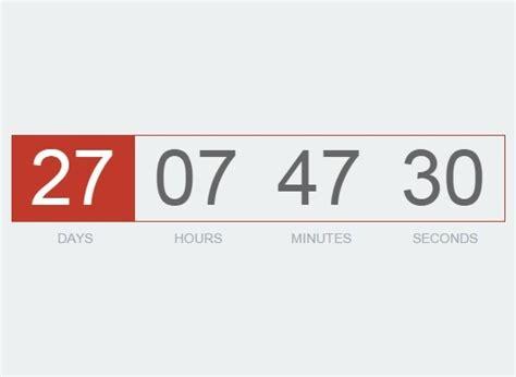 slim countdown timer plugin jquery downcount jquery plugins