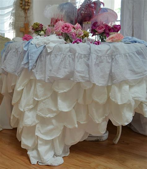 shabby chic ruffled tablecloth 61 best images about fancy tablecloth on pinterest tablecloths tulle tablecloth and ruffles