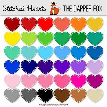 Clipart Rainbow Clip Hearts Colours Colors Digital