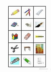 Schulsachenmemory Arbeitsblatt Kostenlose DAF Arbeitsbltter