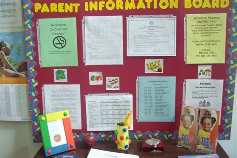 preschool parent information bulletin boards childcare centre administrative systems need to enable 464