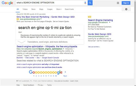 Search Engine Optimization Web Marketing by The Fort Lauderdale Marketing Service Gordo Web