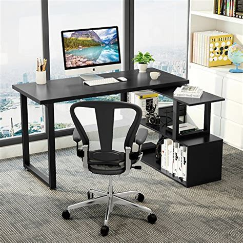Computer Desk For Office Use by Tribesigns Modern L Shaped Desk 55 Quot Rotating Desk Corner
