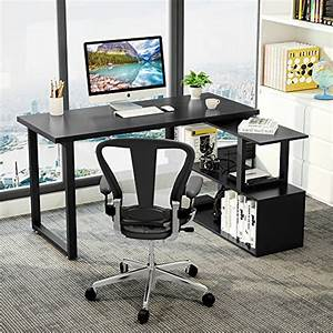 Computer Table Design With Study Table Tribesigns Modern L Shaped Desk 55 Quot Rotating Desk Corner