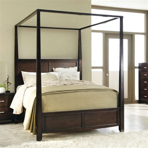 king size sturdy wood frame canopy bed   hearts attic