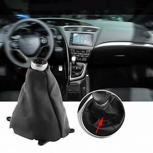 Car Gear Shift Boot Manual Pu Leather Gear Gaiter Shift