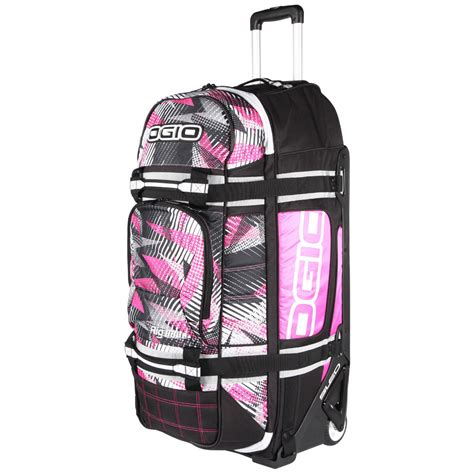 ogio motocross gear bags ogio new rig 9800 bolt pink gearbag mx luggage travel