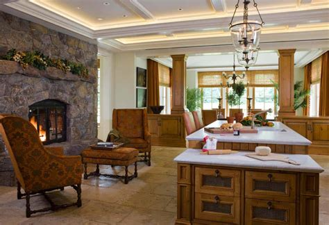 Kitchen Fireplace Design Ideas by 25 Fabulous Kitchens Showcasing Warm And Cozy Fireplaces
