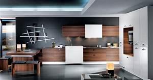 cuisine en bois par perene With cuisine en noyer et blanc
