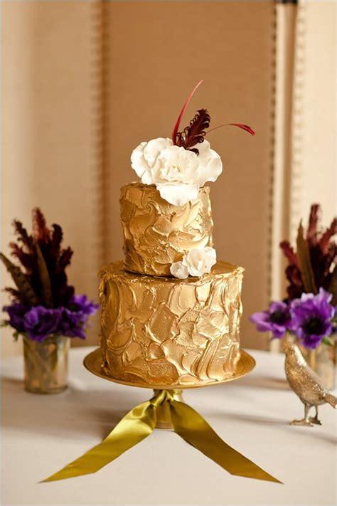 gorgeous gold  tier wedding cake