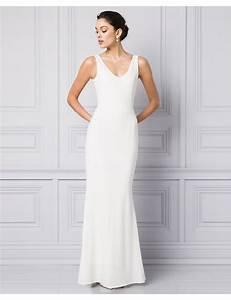 12 plain wedding dresses for the minimalist bride flare With minimalist wedding dress
