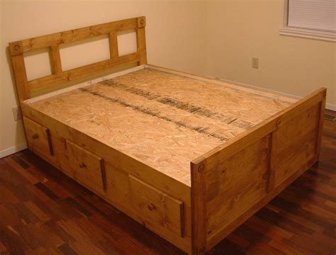 Platform Queen Bed Frame by Bedroom Simple And Neat Picture Of Solid Light Oak Wood