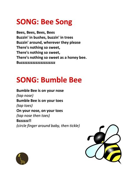 songs about insects for preschoolers archives bees bumble bees finger plays 991