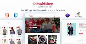 RapidShop ECommerce Bootstrap HTML Template Nulled Download