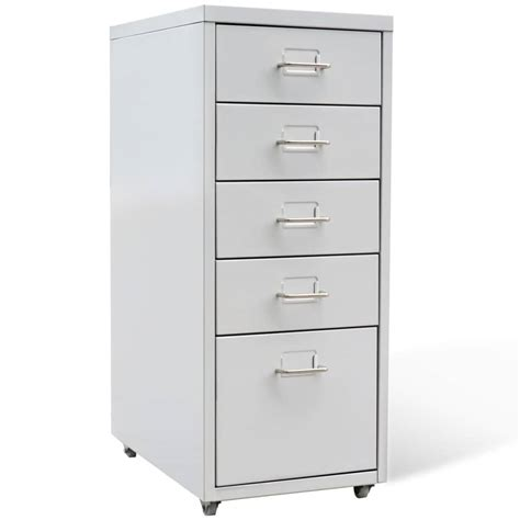 metal drawers for kitchen cabinets metal filing cabinet with 5 drawers grey vidaxl co uk 9146