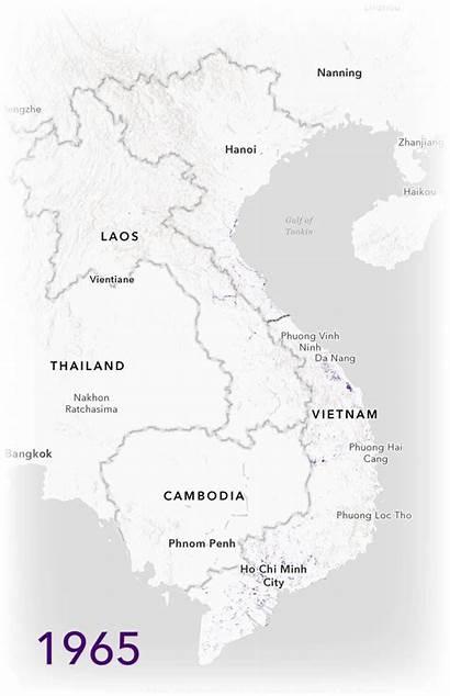 Map Vietnam War Bombing Story Missions 1965