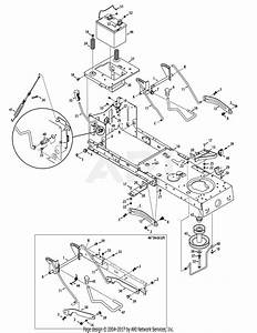 Troy Bilt 13wx79kt011 Horse  2012  Parts Diagram For Frame  U0026 Pto Lift