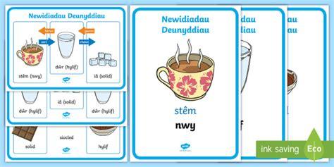 * New * Posteri Newidiadau Deunyddiau  Gwyddoniaeth, Deunydd