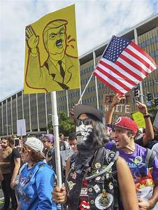 Thousands rally, march in nationwide anti-Trump protests ...