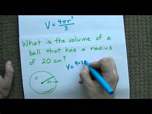 Volume Of A Sphere  4  3 Pi R 3    Example