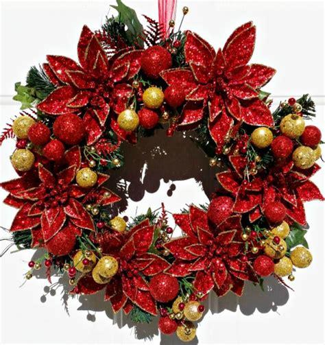poinsettia christmas wreath tutorial intelligent