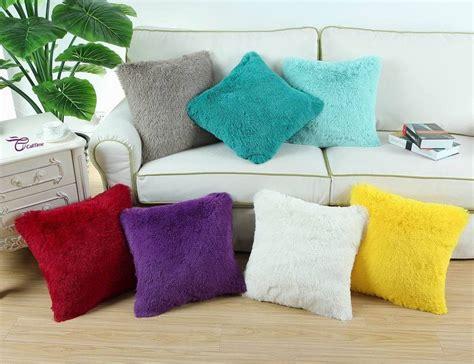 soft throw pillows 18 quot x18 quot calitime soft plush faux fur fleece cushions