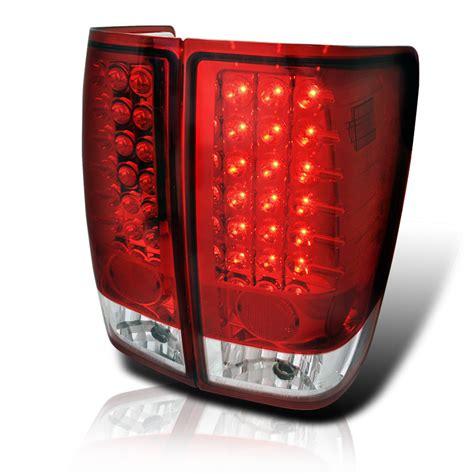 nissan titan led lights 2004 2014 nissan titan performance led tail lights red