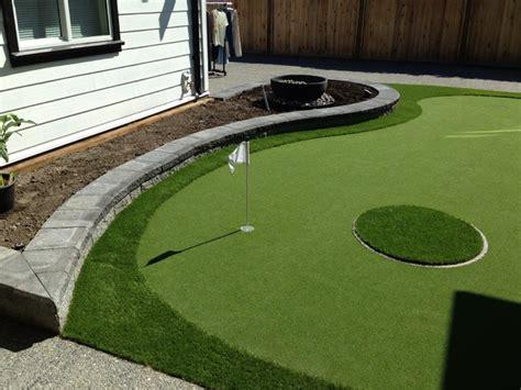 Backyard Putting Green Supplies by Backyard Putting Green Modern Landscape Vancouver