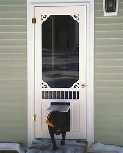 exterior doors with dog doors built in peytonmeyernet With outside door with built in dog door