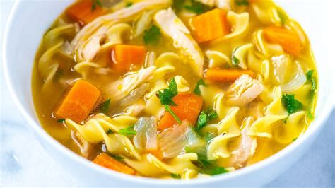 ultra satisfying homemade chicken noodle soup recipe youtube