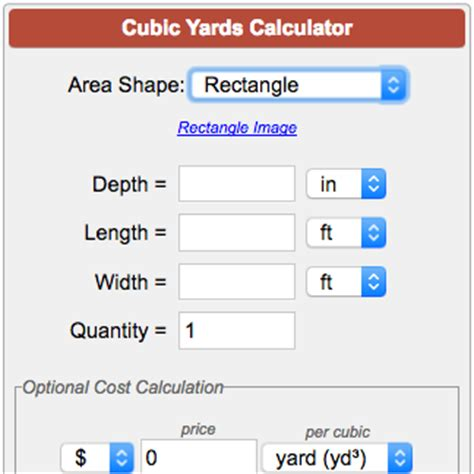 Cubic Yards Calculator