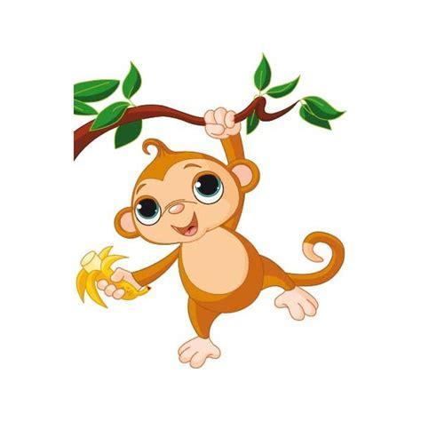 Power Stickers Stickers Mural Le singe pendu avec sa banane