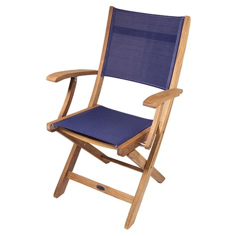 Boat Deck Chairs by Seateak Bimini Teak Folding Deck Chair West Marine