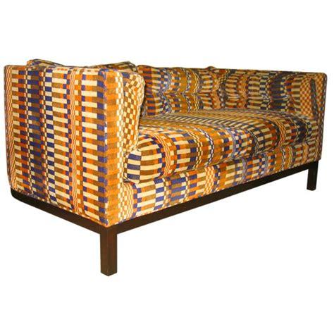kroll furniture dunbar loveseat in original boris kroll op velvet at