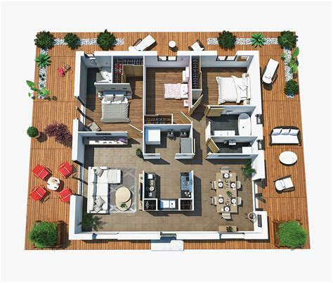 Plan Maison Moderne 3 Chambres by Plan Maison Moderne 3d 3 Chambres