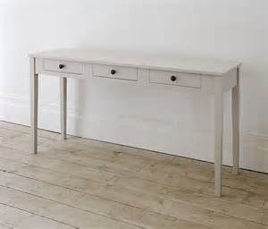 tuvan 3 drawer narrow console table the dormy house