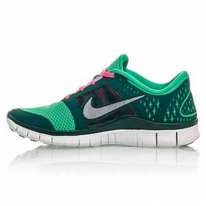 Nike Free Run+ 3 - Womens Running Shoes - Green/Pink/White ...
