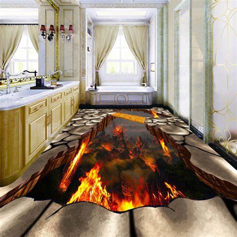 beibehang custom flooring mural wallpaper lava stone magma