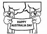 Australia Coloring Happy Pages Printable Coloringpagebook Advertisement Popular sketch template