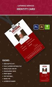 Catering, Services, Identity, Card, Template