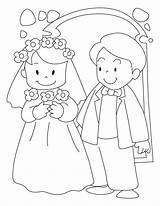 Coloring Groom Bride Popular sketch template