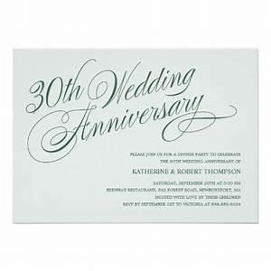 pearl 30th wedding anniversary invitations 13 cm x 18 cm With color for 30th wedding anniversary