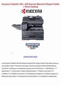 Kyocera Taskalfa 180 220 Service Manual Repai By Asia