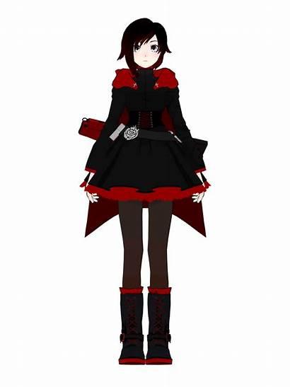 Rwby Ruby Cosplay Turnaround Anime Halloween Reference