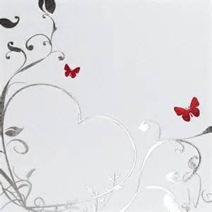 carte fã licitations mariage faire part de mariage blanc papillons rouges sur coeur argent jh 3232 faire part de