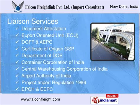 freight services by falcon freightlink pvt ltd import consultant