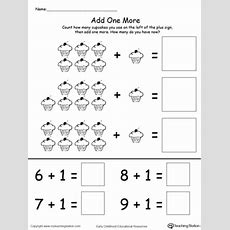 Kindergarten Addition Printable Worksheets Myteachingstationcom