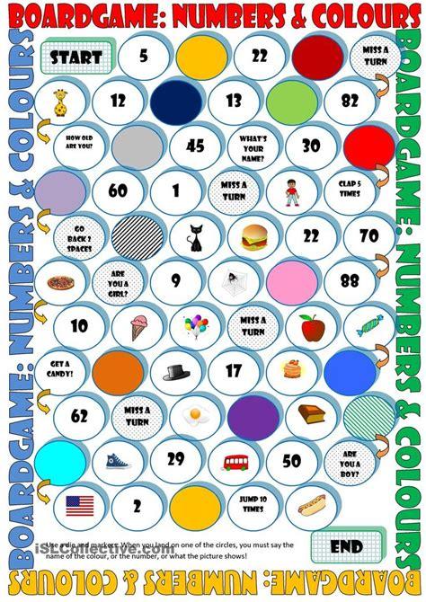 printable board games  learning english printable