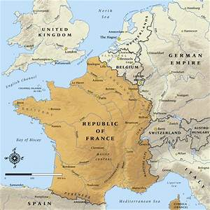 Map of the Republic of France in 1914 | NZHistory, New ...